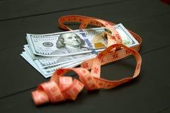 Montón de la medida del dinero Imágenes de archivo libres de regalías