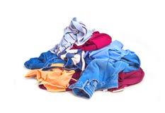 Montón de la ropa Foto de archivo libre de regalías