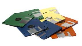Montón de las diskettes del color Imagen de archivo