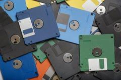Montón de las diskettes del color Fotografía de archivo libre de regalías