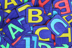 Montón de las letras Fotografía de archivo