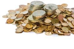 Montón de las monedas de Unión Soviética Imagen de archivo libre de regalías