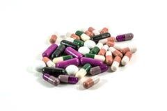Montón de las píldoras de la medicina Imagenes de archivo