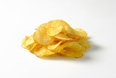 Montón de las patatas fritas imagenes de archivo