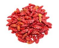 Montón de las pimientas rojas secadas Piri-Piri Foto de archivo libre de regalías