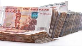 Montón de las rublos rusas Imagen de archivo