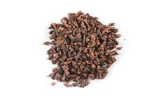 Montón de las semillas de cacao Foto de archivo