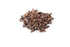 Montón de las semillas de cacao Fotografía de archivo libre de regalías