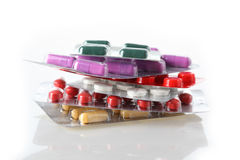 Montón de los antibióticos Foto de archivo