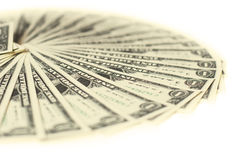 1 montón de los billetes de banco de los dólares de los E.E.U.U. Imágenes de archivo libres de regalías