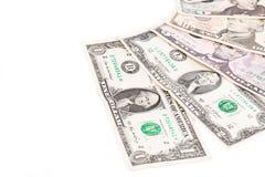 Montón de los billetes de dólar uno Imágenes de archivo libres de regalías