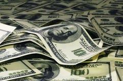 Montón de los dólares 5 Foto de archivo