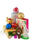 Montón de los decoratins de la Navidad fotos de archivo libres de regalías