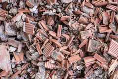 Montón de los escombros foto de archivo
