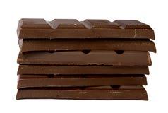 Montón de los fragmentos del chocolate Imagen de archivo libre de regalías