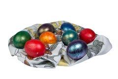 Montón de los huevos de Pascua pintados Imágenes de archivo libres de regalías