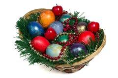 Montón de los huevos de Pascua pintados Imagen de archivo libre de regalías