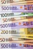 Montón de notas euro Fotografía de archivo
