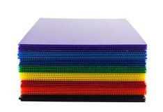 Montón de plásticos acanalados Imagen de archivo libre de regalías