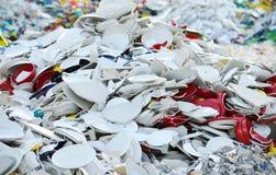 Montón de platos quebrados Imagen de archivo