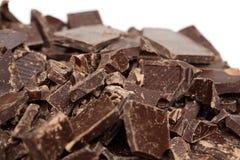 Montón del chocolate quebrado Imagen de archivo