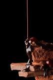 Montón del chocolate quebrado de los pedazos imagen de archivo libre de regalías