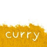 Montón del curry fotografía de archivo