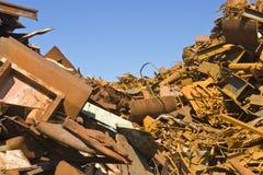 Montón del desecho de metal Fotografía de archivo
