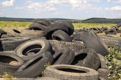 Montón del neumático. Imagen de archivo