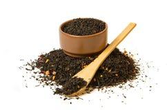 Montón del té negro Fotos de archivo