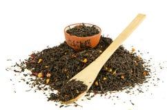 Montón del té negro Fotos de archivo libres de regalías