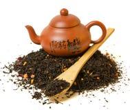 Montón del té negro Fotografía de archivo