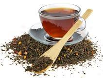 Montón del té negro Imágenes de archivo libres de regalías