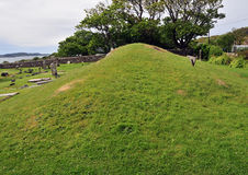 Montón escocés del rey entierro de Anicent Imagenes de archivo