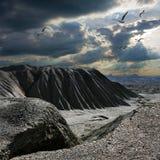 Montón inútil de la mina de carbón vieja en Gorlovka 4 Foto de archivo