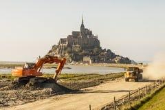 Mont圣徒米谢勒-法国,诺曼底。 免版税库存照片