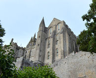 Mont圣徒米谢尔在诺曼底法国 免版税库存照片