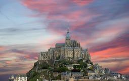 Mont圣徒Michel,诺曼底,法国 库存图片