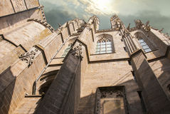 Mont圣米歇尔诺曼底修道院  免版税库存照片