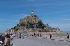 Mont圣米歇尔,法国海岛在一个美好的夏日 库存图片