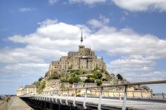 Mont圣米歇尔,诺曼底,法国修道院  库存图片