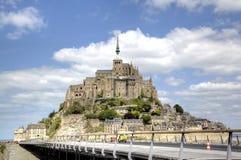 Mont圣米歇尔,诺曼底,法国修道院  免版税库存图片