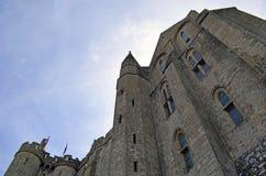 Mont Świątobliwy Michele w Francja, Normandy Dziedzictwo, fortyfikacja zdjęcia royalty free