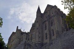 Mont Świątobliwy Michele w Francja, Normandy Dziedzictwo, fortyfikacja zdjęcia stock