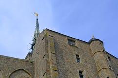 Mont Świątobliwy Michele w Francja, Normandy Dziedzictwo, fortyfikacja zdjęcie stock