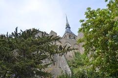 Mont Świątobliwy Michele w Francja, Normandy Dziedzictwo, fortyfikacja obrazy stock