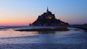 Mont-Άγιος-Michel, Γαλλία απόθεμα βίντεο
