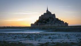 Mont Άγιος Michel - Νορμανδία - Γαλλία απόθεμα βίντεο