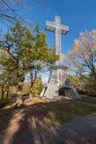Mont-βασιλικός σταυρός του Μόντρεαλ Στοκ φωτογραφία με δικαίωμα ελεύθερης χρήσης