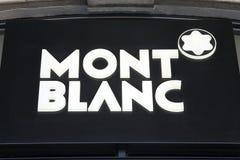 mont логоса blanc стоковые изображения rf